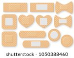 set of realistic first aid band ... | Shutterstock .eps vector #1050388460