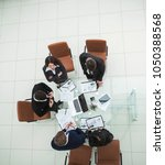 business team on meeting... | Shutterstock . vector #1050388568
