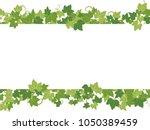 fresh ivy leaf vector frame. | Shutterstock .eps vector #1050389459