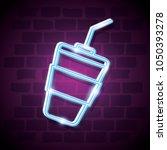 milkshake drink neon label | Shutterstock .eps vector #1050393278