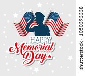 happy memorial day celebration... | Shutterstock .eps vector #1050393338