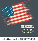 happy memorial day celebration... | Shutterstock .eps vector #1050393350