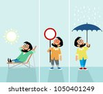 vector illustration of three... | Shutterstock .eps vector #1050401249