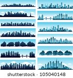 cityscape collection | Shutterstock .eps vector #105040148