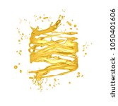 oil splash. 3d illustration  3d ... | Shutterstock . vector #1050401606