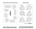 two visual math puzzles and... | Shutterstock .eps vector #1050404900