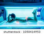 shapely beautiful young girl... | Shutterstock . vector #1050414953