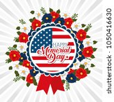 happy memorial day with... | Shutterstock .eps vector #1050416630