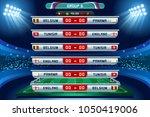 russia 2018 football world cup... | Shutterstock .eps vector #1050419006