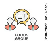 icon focus group. interviewing... | Shutterstock .eps vector #1050425528