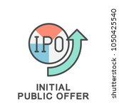 icon initial public offer.... | Shutterstock .eps vector #1050425540
