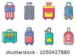 travel bag icon set. cartoon... | Shutterstock .eps vector #1050427880