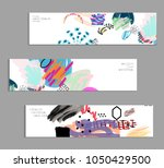 abstract universal art web... | Shutterstock .eps vector #1050429500