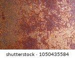 closeup rusty metal surface... | Shutterstock . vector #1050435584