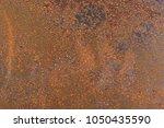 closeup rusty metal surface... | Shutterstock . vector #1050435590