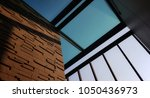 modern rooftop with glass | Shutterstock . vector #1050436973