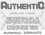 font alphabet typeface... | Shutterstock .eps vector #1050441470