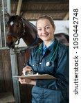 portrait of female vet...   Shutterstock . vector #1050442748