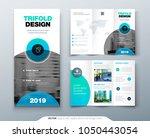 tri fold brochure design.... | Shutterstock .eps vector #1050443054