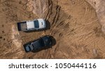 aerial view of off road car... | Shutterstock . vector #1050444116