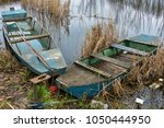 wooden river boat | Shutterstock . vector #1050444950