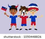 fan of liechtenstein national... | Shutterstock .eps vector #1050448826