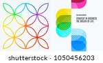 set of abstract vector design... | Shutterstock .eps vector #1050456203