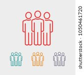 group of people vector icon ... | Shutterstock .eps vector #1050461720