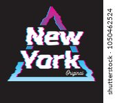 new york city glitch effect... | Shutterstock .eps vector #1050462524