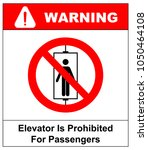 do not use elevator sign. do... | Shutterstock .eps vector #1050464108