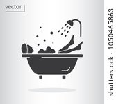 bathtub icon   vector... | Shutterstock .eps vector #1050465863