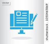 blogging icon   vector... | Shutterstock .eps vector #1050465869