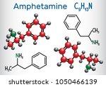 amfetamine  amphetamine  c9h13n ... | Shutterstock .eps vector #1050466139