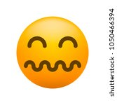 cute stunned emoticon on white... | Shutterstock .eps vector #1050466394