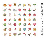 collection of floral symbols... | Shutterstock .eps vector #1050468200