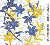 seamless  pattern vector garden ... | Shutterstock .eps vector #1050468218