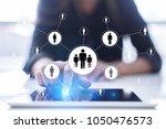 human resource management  hr ... | Shutterstock . vector #1050476573