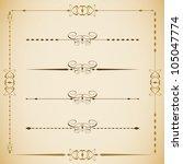 vector set of vintage framed... | Shutterstock .eps vector #105047774