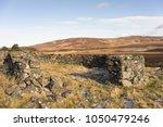 abandoned sheep pens on dava...   Shutterstock . vector #1050479246