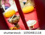 focus holy water in the vintage ... | Shutterstock . vector #1050481118