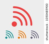 wi fi icon vector illustration. ... | Shutterstock .eps vector #1050485900