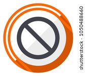 access denied orange flat... | Shutterstock .eps vector #1050488660