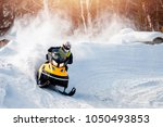 Snowmobile Races In The Snow....