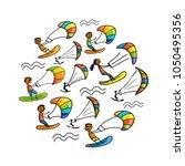 kiteboarding  sketch for your...   Shutterstock .eps vector #1050495356