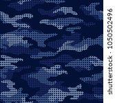 seamless blue pattern... | Shutterstock .eps vector #1050502496