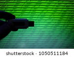 usb flash drive on a background ... | Shutterstock . vector #1050511184