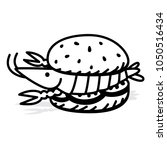 vector shrimp burger made from... | Shutterstock .eps vector #1050516434