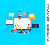 forum. technologies. internet.... | Shutterstock .eps vector #1050519326