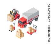 isometric warehouse... | Shutterstock .eps vector #1050519950