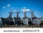 battleships at philadelphia... | Shutterstock . vector #1050521579